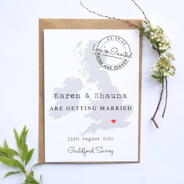 Are you interested in our Map wedding invitation? With our Postcard wedding invitation you need look no further.