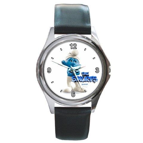 The Smurfs 2 Grouchy design round metal by awrelieaccessories