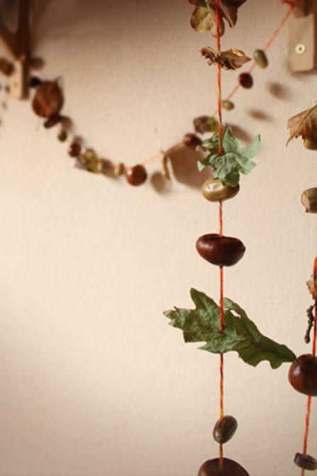 Herfstslinger knutselen met natuurmaterialen | Kiind Magazine