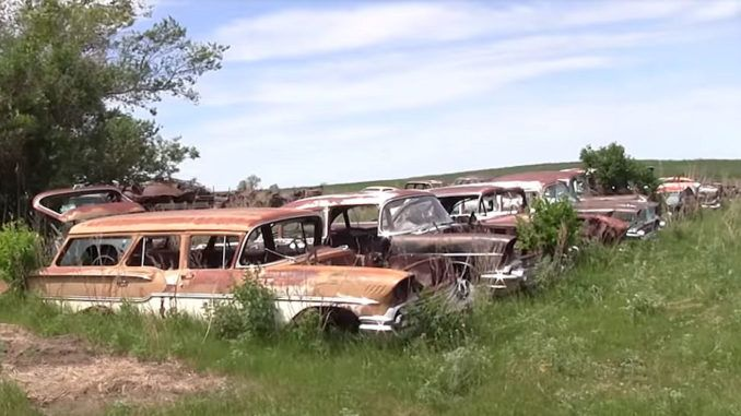 Junk Yard Tour Martell S Salvage North Dakota Car Vehicles