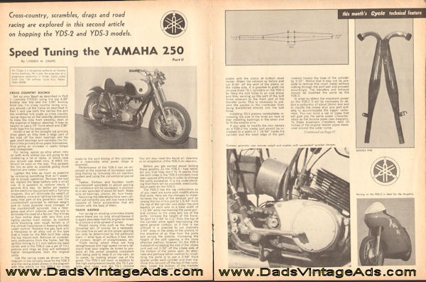 1965 Speed Tuning the Yamaha 250, part 2, by Lyden W. Crapo
