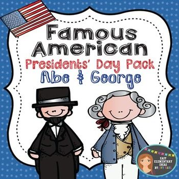 Presidents' Day Pack Abe Lincoln & George Washington {PowerPoint & Printables} Unit covers Abraham Lincoln as the 16th President of the United States, leadership during the Civil War, issuer of the Emancipation Proclamation, and the Gettysburg Address and more! Students will compare and contrast their life to Abe's, cut & paste timeline activity, describe Abraham Lincoln using character traits, write a mini biography report, and map important locations.