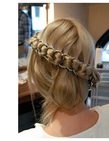 How to: Chainmail Braid | ELLE UK.  A little complicated, but I am pretty sure I could get it.