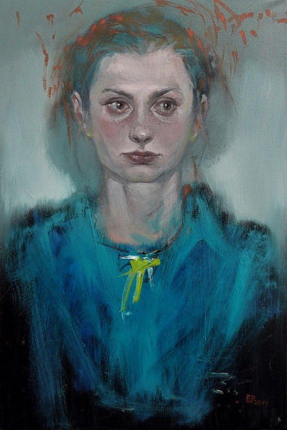 Barbara Porczyńska, Flora, oil on canvas 2017