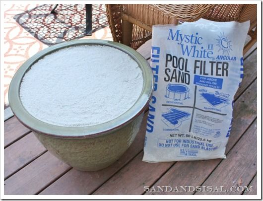 need sand for a home decor or craft project?  try pool filter sand--inexpensive, clean and very white