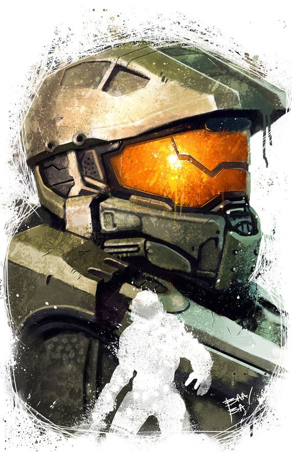 halo 5 poster fp3744 halo 5 master chief 600×600 - Poster ...
