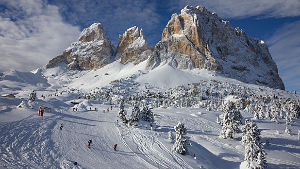 There's skiing the Alps, and then there's skiing the Italian Alps.