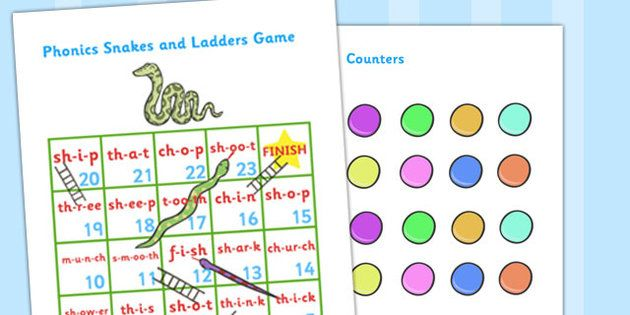 Phase 4 Phonics Snakes And Ladders Blending Game Editable