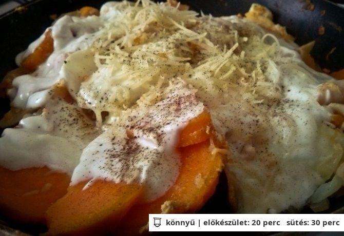 Diétás rakott krumpli serpenyőben