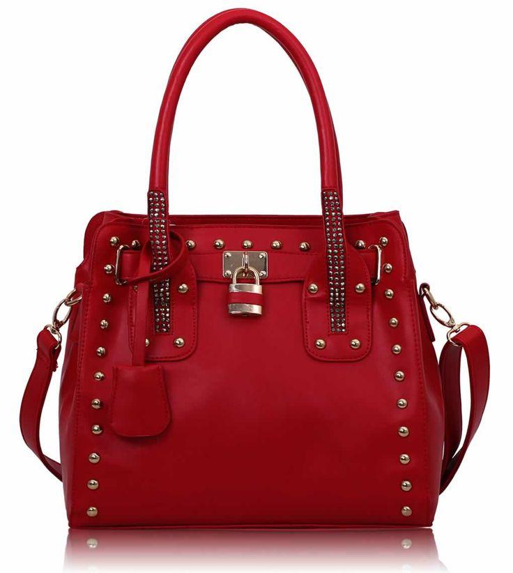 Studded Tote Bag With Padlock - £23