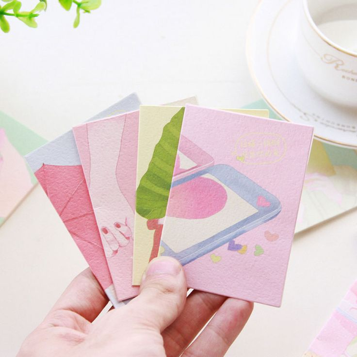 """12 pcs/set """"Say your love"""" small cards with envelope holiday greeting message card Valentine's day wedding New Year Gift card"""