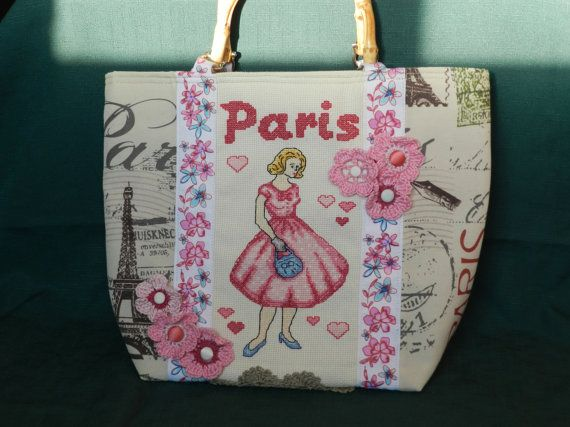 Spring in Paris handbag for Ladies hand by Hungarianhouse on Etsy