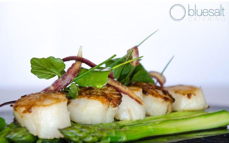 Seared scallops & asparagus (Old Menu)