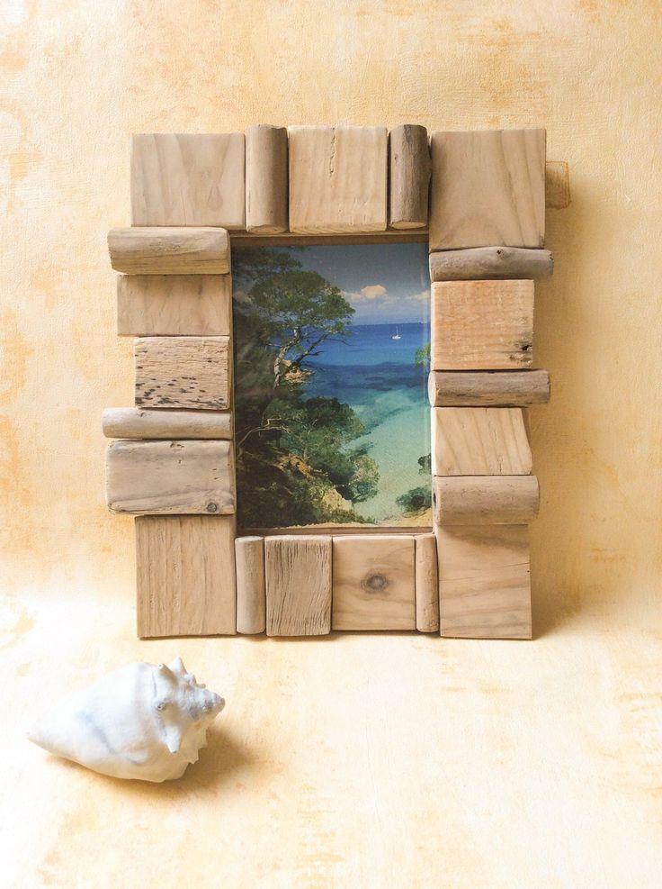 Les 42 meilleures images propos de cadres en bois flott - Cadre en bois flotte decoration ...