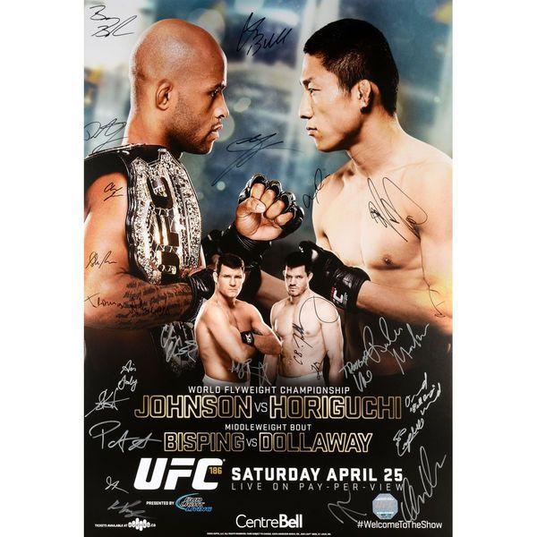 Fanatics Authentic UFC 186 Johnson vs. Horiguchi Autographed 27'' x 39'' 22-Signature Event Poster - $149.99