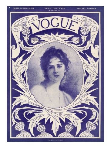 Vogue Cover - February 1904 Premium Giclee Print