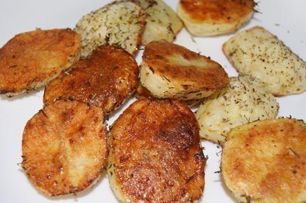"""Pommes de terre roties au micro onde (si vous avez la fonction """"crips grill) servi avec une recette de malayers et des variantes"""
