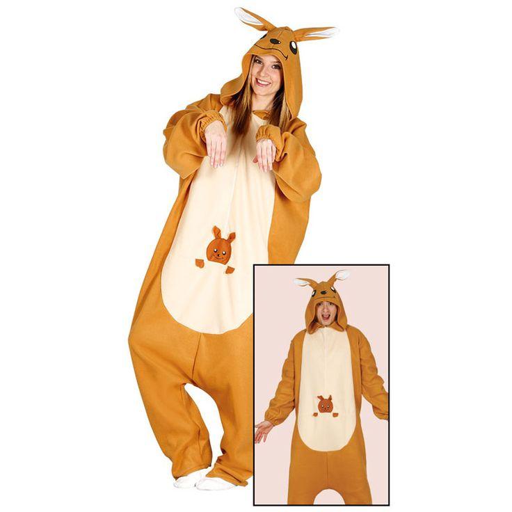 Disfraz de Canguro Kigurumi Adulto #carnaval #novedades2016
