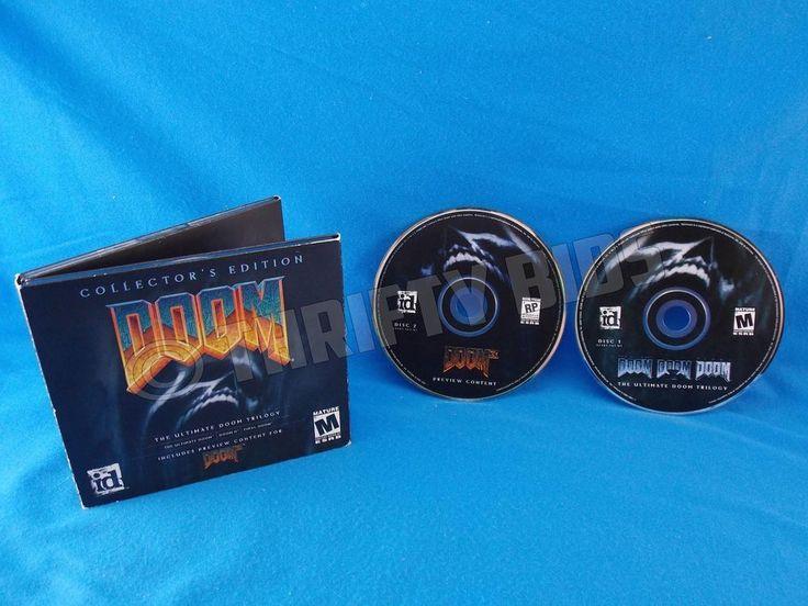 Doom Trilogy PC Collector's Edition 2 Disc Set Ultimate Doom II Final Doom