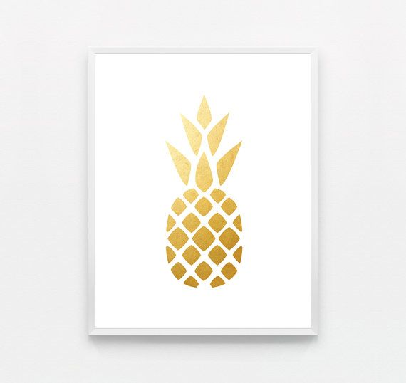 I love this Gold Pineapple Print. And I still love the pineapple trend that's happening right now. So wacky!