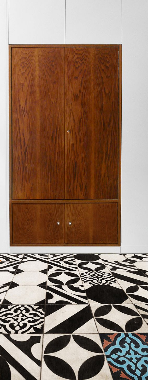 Black&White floor. Project: Anna Bliska, kwadratowy metr. Tiles: Purpura