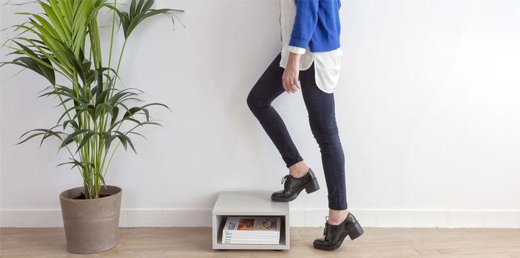 Cube de rangement de la série Bed Up ® Cubéo. Disponibles en plusieurs tailles et couleurs. Il s'associe avec les autres modèles de la gamme.  Pour plus de renseignements rendez vous sur :  www.bedup.fr