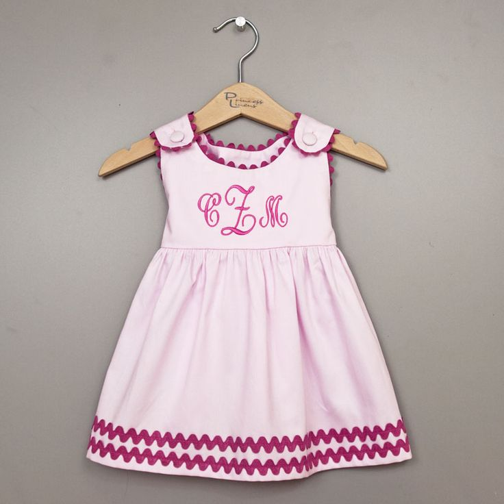 8 best baby girl monogrammed dresses images on pinterest infant adorable and timeless this dress makes sweet personalized baby gifts all of our dresses negle Image collections