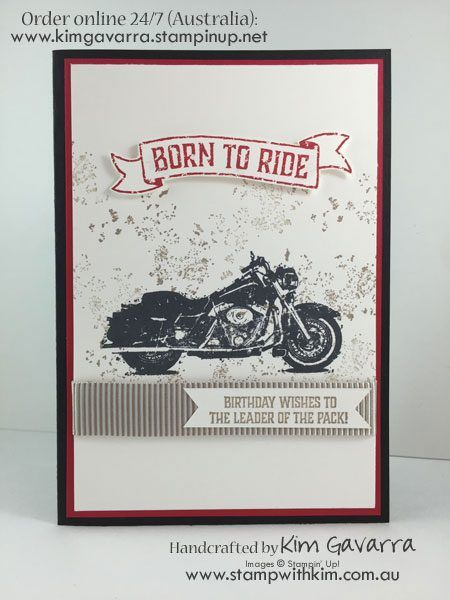 Stampin' Up! One WIld Ride Stamp Set Stamp With Kim Australia Male Cards