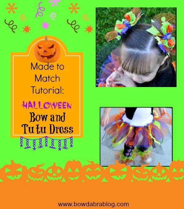Halloween bows and tutus