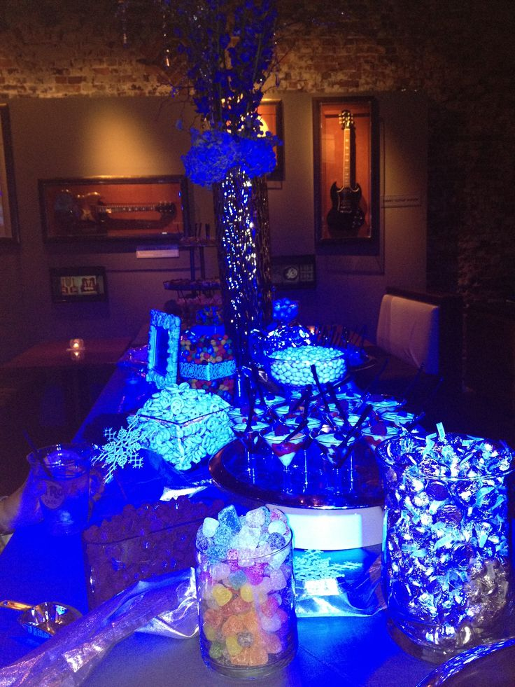 Fire & Ice themed party. Ice room candy and dessert bar ... Prom Themes Fire And Ice