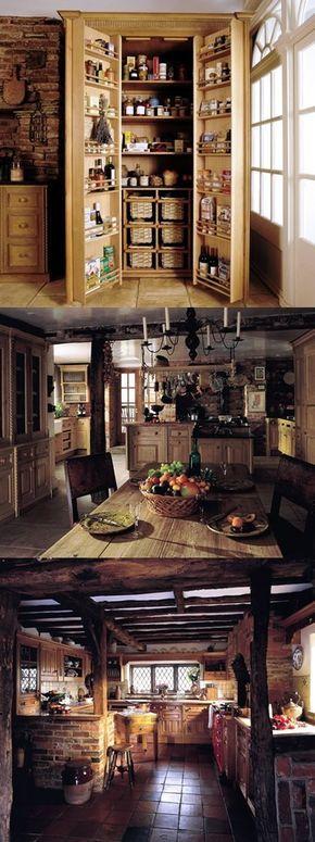 Elegant diseno de cocina rustica en pino
