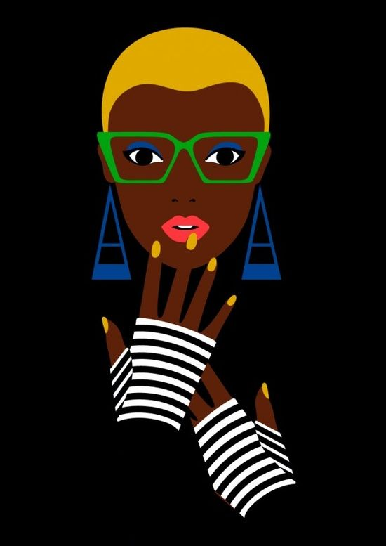 Malika Favre young woman in glasses illustration