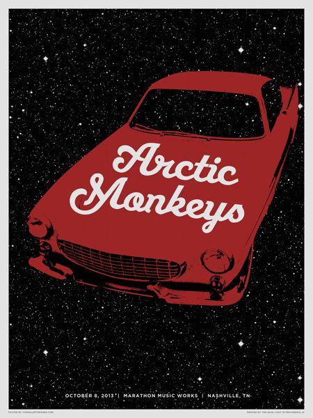 Arctic Monkeys. Poster design: Third Alert Designs (2013).