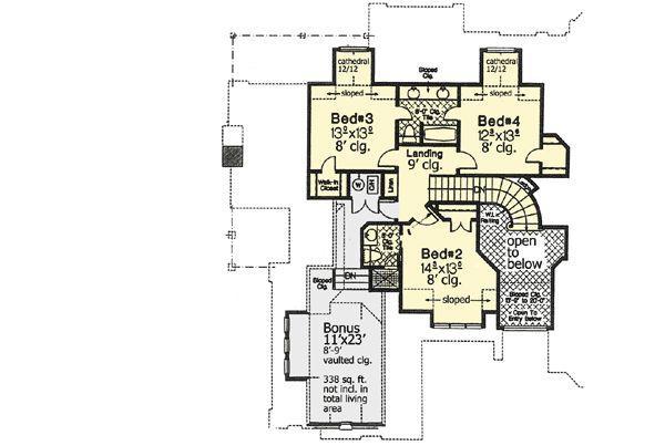 Plan 48200FM: Courtyard Entry Grandeur