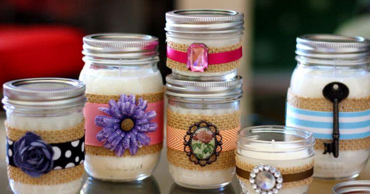 Como fazer velas decorativas em potes de conserva