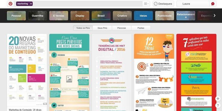 Redes sociais mais usadas do Brasil: Pinterest