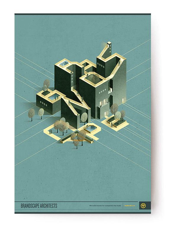 Brandscape Architects | Modern8 by Russ Gray, via Behance