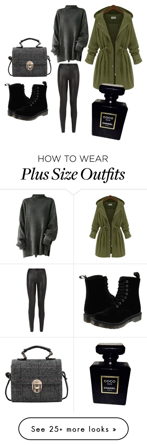"""Untitled #387"" by pumpkin-hart on Polyvore featuring Dr. Martens, JDY and Chanel"