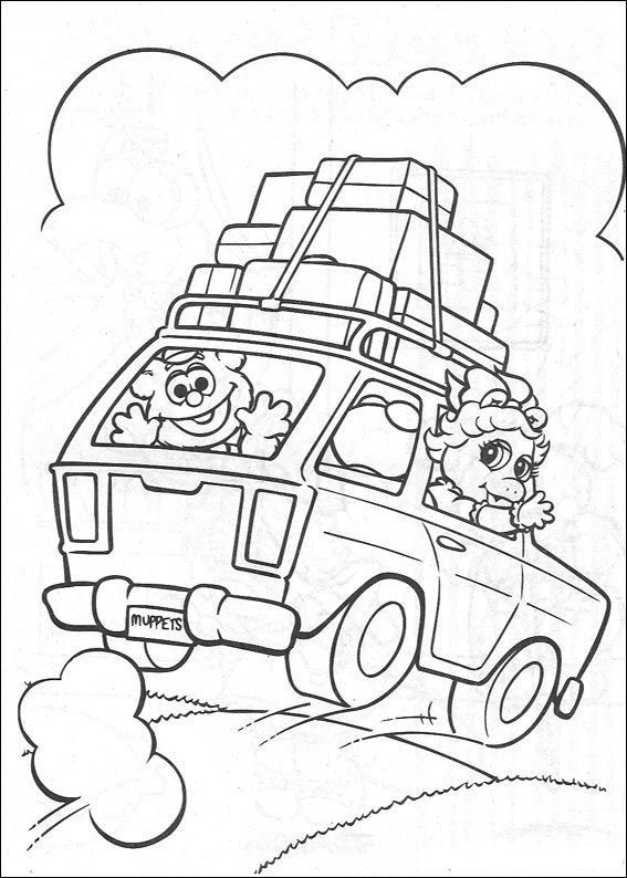 Muppet Babies Coloring Pages Christmas Firep Muppet Best