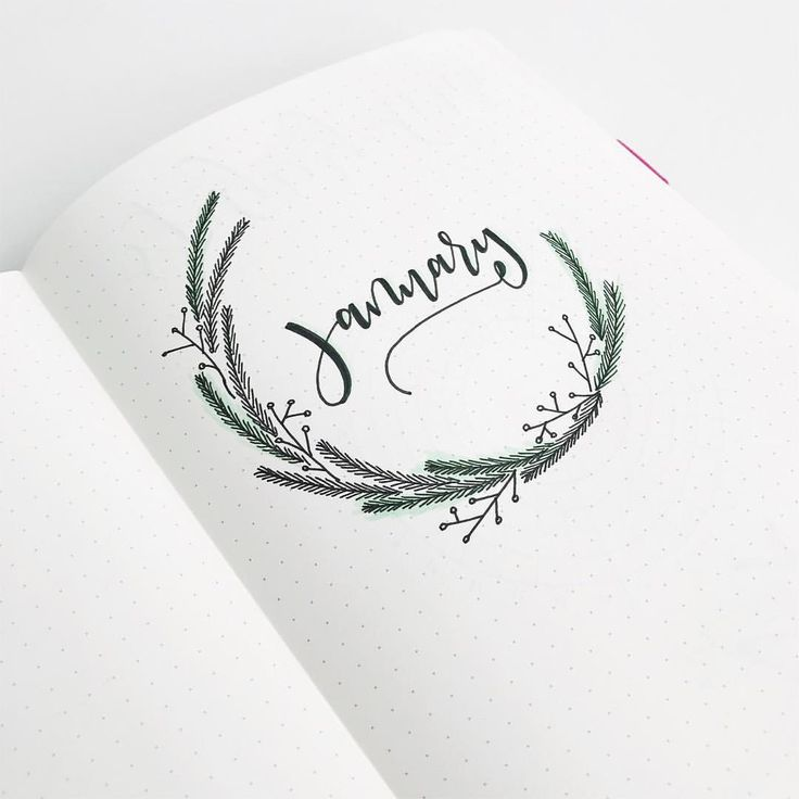 Here is a little sneak preview for my January cover page in my @scribblesthatmatter bullet journa!! I love this minimalist mint wreath to start off 2018!