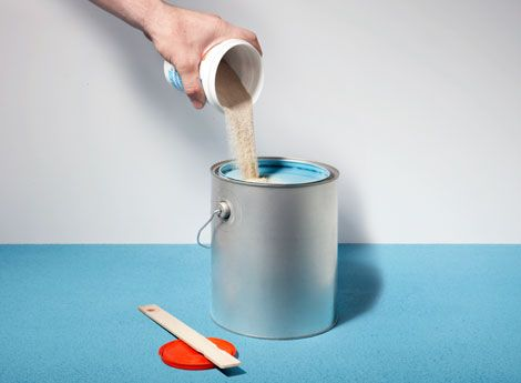 Adding a pound of sand to a gallon of floor paint creates a slip-resistant coating.