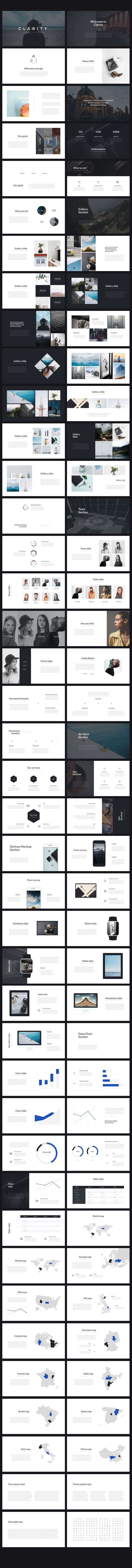 Clarity PowerPoint Template by Entersge on @creativemarket