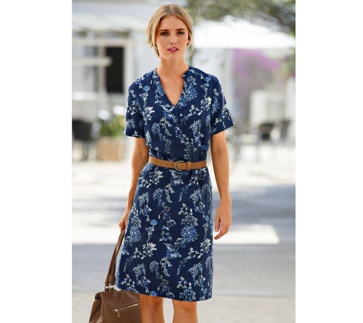 Šaty s potlačou, bavlna a ľan | blancheporte.sk #blancheporte #blancheporteSK #blancheporte_sk #dress #saty