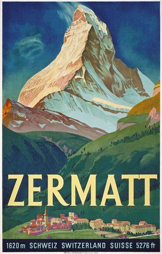 Vintage Zermatt poster