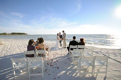 Beach Elopement: Jade & Trey's Longboat Key Sunset Beach Wedding: $1250 for location, ceremony, officiant, music.