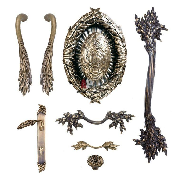Плакучая ива. Дверные ручки из литой бронзы Willow от Martin Pierce