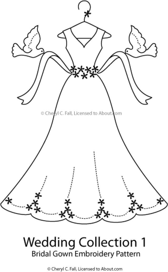 The Groom's Tuxedo Embroidery Pattern: Bridal Gown Embroidery Pattern