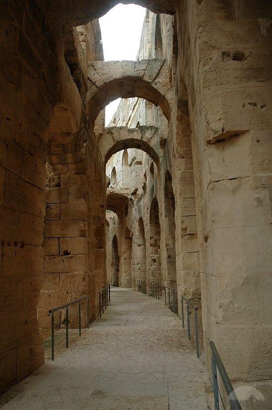 The Amphitheatre of El Jem, Tunisiahttps://www.pinterest.com/honorgrad/ancient-middle-east/