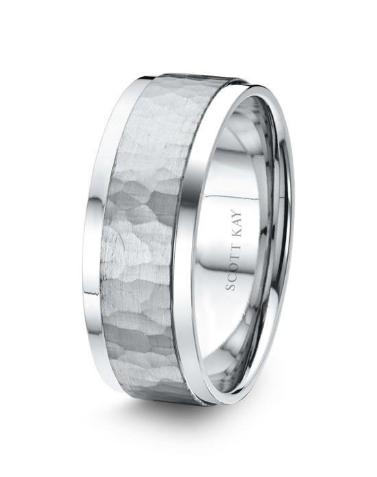 Scott Kay platinum wedding band with hammered satin center and bright edges I Style: C4025C65-8 I https://www.theknot.com/fashion/c4025c65-8-scott-kay-wedding-ring?utm_source=pinterest.com&utm_medium=social&utm_content=june2016&utm_campaign=beauty-fashion&utm_simplereach=?sr_share=pinterest