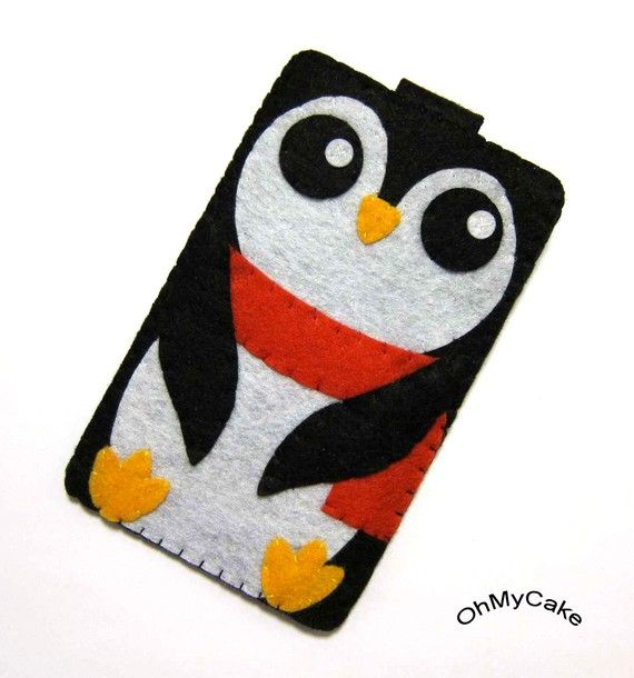 OMG! I need this! Penguin Felt iPhone case.